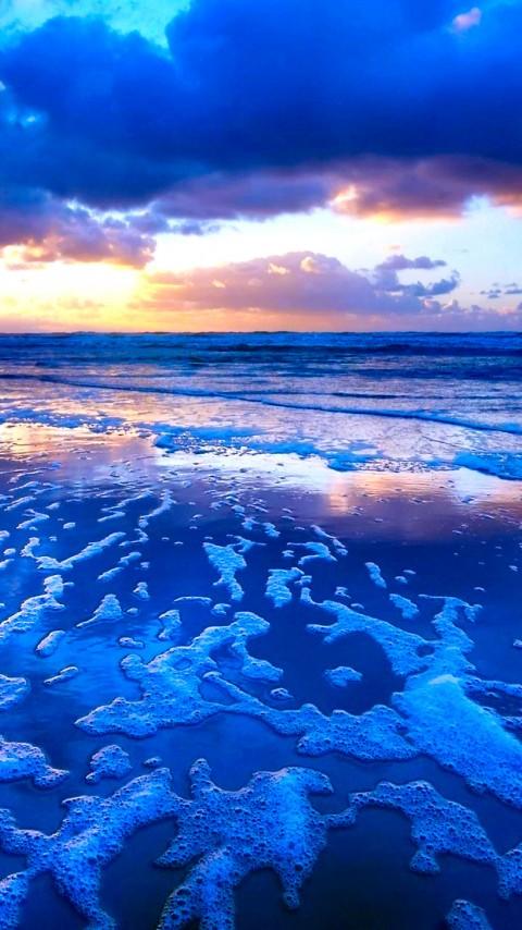 Tide Sunset Waves Wallpaper 374 480x854 - Wallpaper - HD Wallpaper